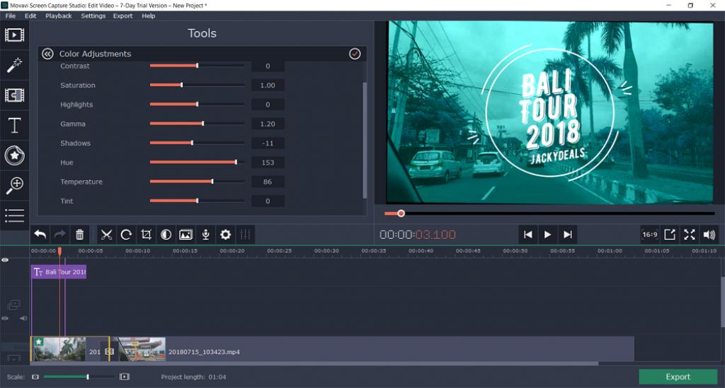 Movavi Screen Capture Studio 10.2.0 Activation Key
