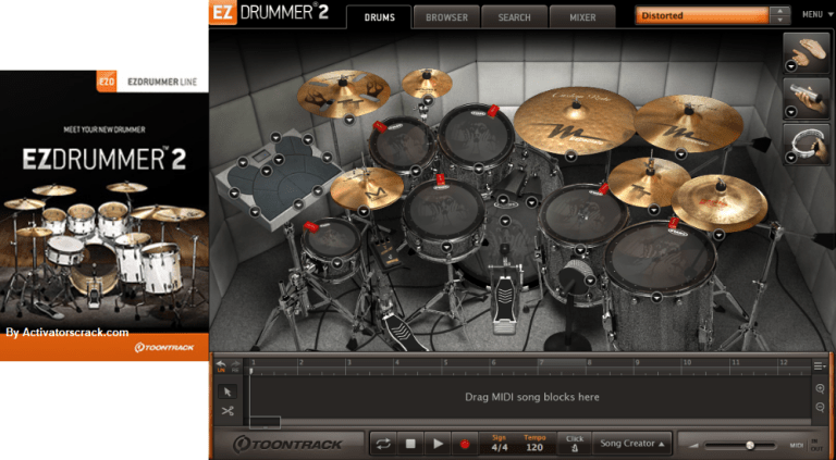 Toontrack EZdrummer 2.1.8 Full Pack With Crack & Authorization File