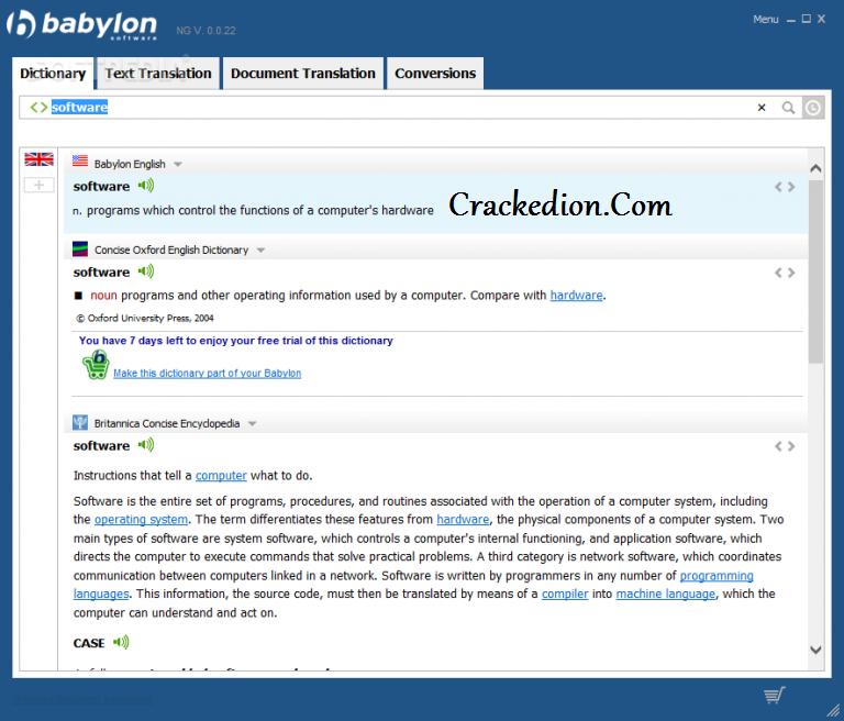 Babylon Premium Pro NG 10.5 Crack